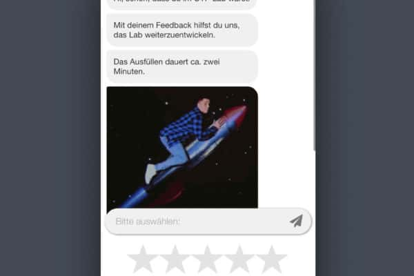 Screenshot aus dem CYP Chatbot