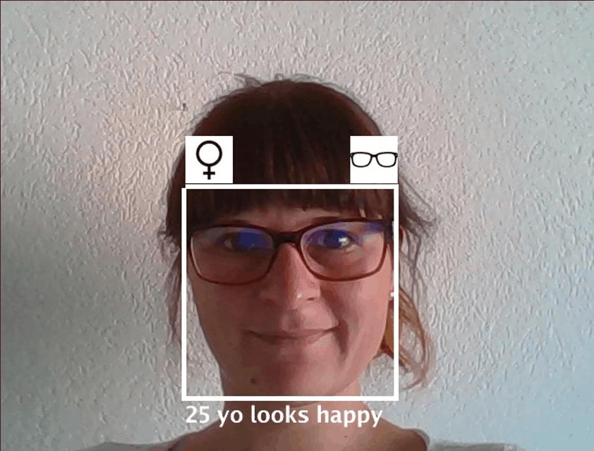 Das System schätzt das Alter, Geschlecht und die Laune einer Person