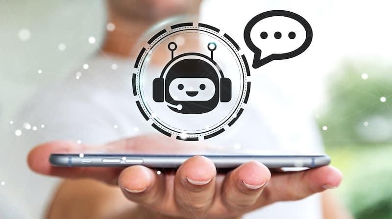 Chatbot auf einem Mobiltelefon